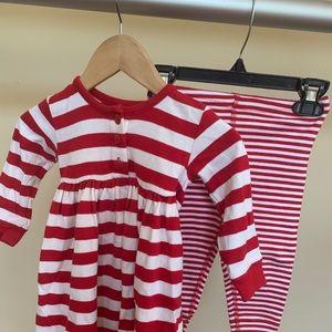 Hanna Andersson 2 piece dress & legging set.